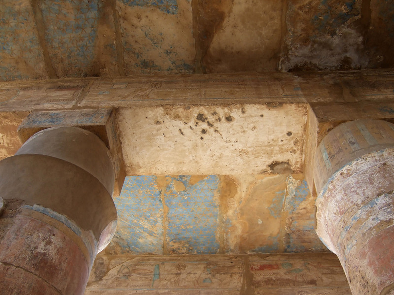 Ceining color details at Karnak Temple in Luxor circa 2000 BC