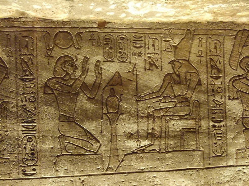Offerings to God Horus at Abu Simbel