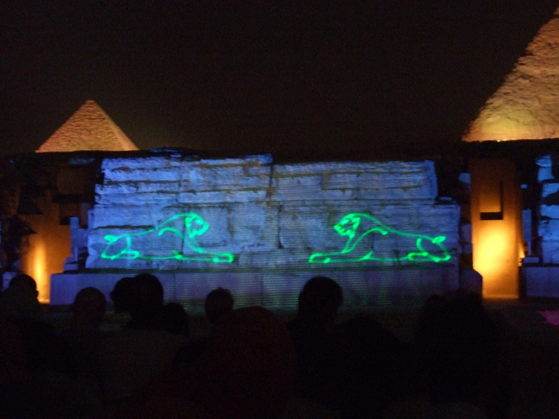 Wall Projections at the Giza Light and Sound Show