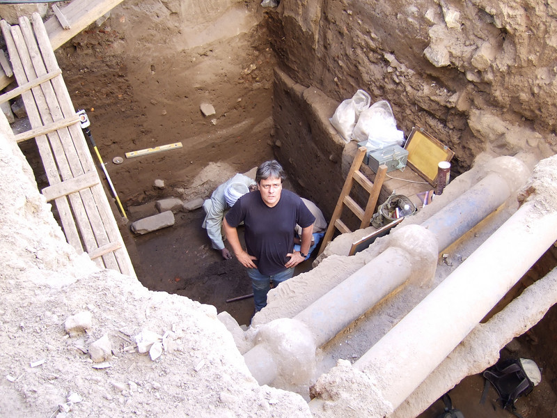 Archeological Dig to check before building - down to 1350 BC (pre Muslim) on a continuously habited site in the Aswan Bazaar