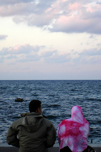 Looking out to sea - Alexandria, Egypt ... November 27, 2006 ... Photo by Emily Conger