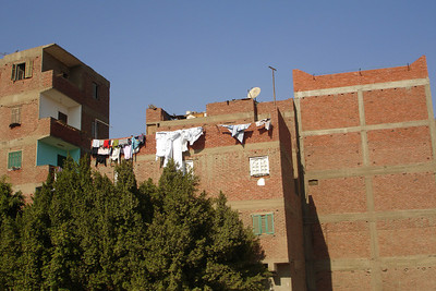 Houses along the highway - Cairo, Egypt ... November 28, 2006 ... Photo by Rob Page III