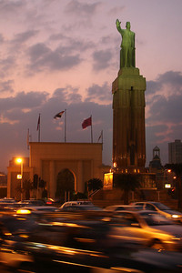 A statue in the Midan Saad Zaghloul - Cairo, Egypt ... November 29, 2006 ... Photo by Rob Page III