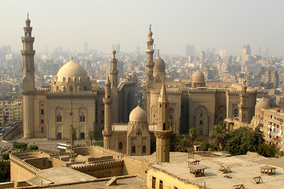 The Mosque of Suleiman Silahdar from the Citadel - Cairo, Egypt ... November 22, 2006 ... Photo by Rob Page III
