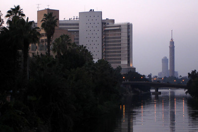 Downtown Cairo along the Nile River - Cairo, Egypt ... November 22, 2006 ... Photo by Rob Page III