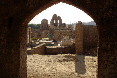 In the Fatimid Cemetery - Aswan, Egypt ... November 25, 2006 ... Photo by Rob Page III