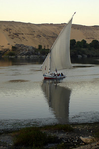 A felucca along the Nile - Aswan, Egypt ... November 25, 2006 ... Photo by Rob Page III