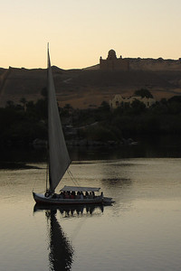 A felucca on the Nile - Aswan, Egypt ... November 25, 2006 ... Photo by Rob Page III