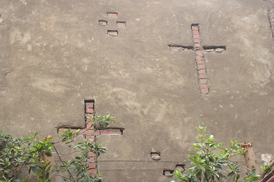 The crosses of Old Cairo next to the Hanging Church - Cairo, Egypt ... November 21, 2006 ... Photo by Emily Conger