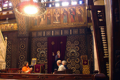 Inside the hanging church - Cairo, Egypt ... November 21, 2006 ... Photo by Rob Page III