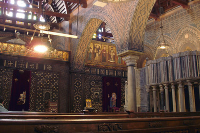 Inside the Hanging Church - Cairo, Egypt ... November 21, 2006 ... Photo by Emily Conger