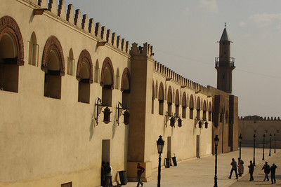 Mosque of Amr Ibn Al As.  This is the site of the first mosque in Egypt.  Construction began in 642 and have continued ever since - Cairo, Egypt ... November 21, 2006 ... Photo by Rob Page III