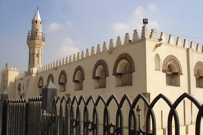Outside the Mosque of Amr Ibn Al As.  This is the site of the first mosque in Egypt.  Construction began in 642 and have continued ever since - Cairo, Egypt ... November 21, 2006 ... Photo by Emily Conger
