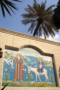 The tile wall of the Hanging Church - Cairo, Egypt ... November 21, 2006 ... Photo by Emily Conger