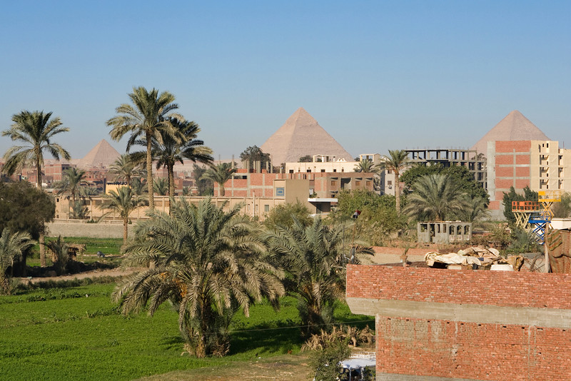 On the way to the Giza Pyramids