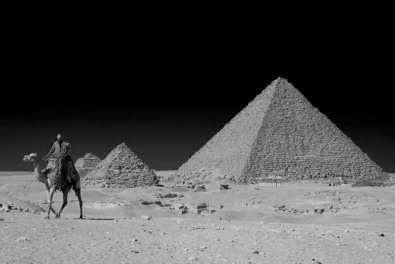 Pyramids by night.