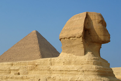 The Sphinx and the Pyramid of Khufu - Giza, Egypt ... November 20, 2006 ... Photo by Rob Page III