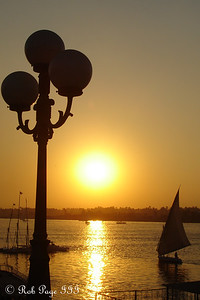 The sun sets beyond the Nile - Luxor, Egypt ... November 24, 2007 ... Photo by Rob Page III