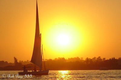 A felucca cruise at sunset on the Nile - Luxor, Egypt ... November 24, 2007 ... Photo by Rob Page III