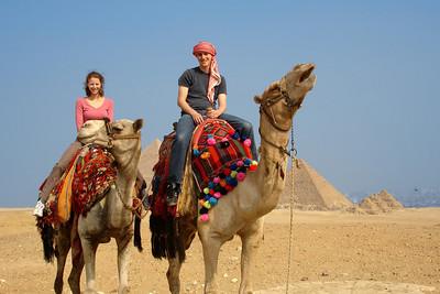 Rob and Emily by the pyramids - Giza, Egypt ... November 20, 2006