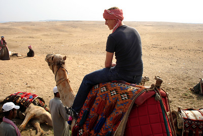 Rob riding a camel - Giza, Egypt ... November 20, 2006 ... Photo by Emily Conger