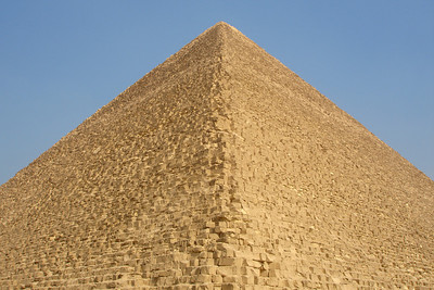 The Pyramid of Khufu rises from the plateau - Giza, Egypt ... November 20, 2006 ... Photo by Rob Page III