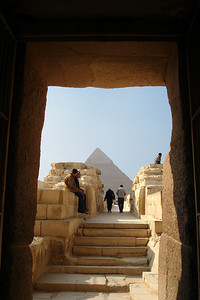The pyramid of Khafre - Giza, Egypt ... November 20, 2006 ... Photo by Emily Conger