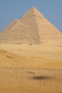 The Khafre and Khufu Pyramids - Giza, Egypt ... November 20, 2006 ... Photo by Rob Page III