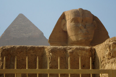 The Pyramid of Khafre and the Sphinx - Giza, Egypt ... November 20, 2006 ... Photo by Rob Page III