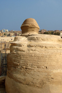 The back of the Sphinx - Giza, Egypt ... November 20, 2006 ... Photo by Emily Conger