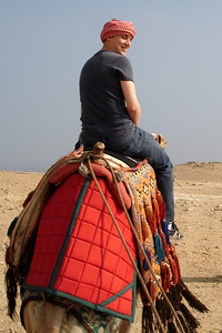 Rob, riding his camel - Giza, Egypt ... November 20, 2006 ... Photo by Emily Conger