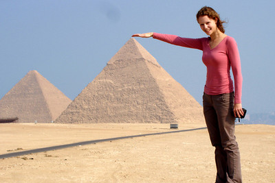 Emily is a genie - Giza, Egypt ... November 20, 2006