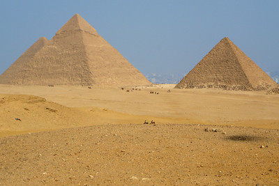 The Giza Pyramids - Giza, Egypt ... November 20, 2006 ... Photo by Rob Page III