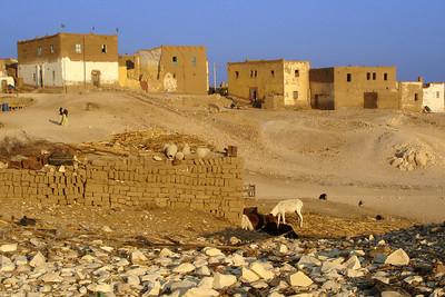 The small rural town on the West Bank across from Luxor - Gurna, Egypt ... November 23, 2006 ... Photo by Rob Page III