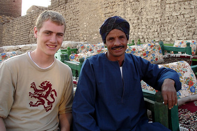 Rob and one of the locals - Gurna, Egypt ... November 23, 2006 ... Photo by Emily Conger