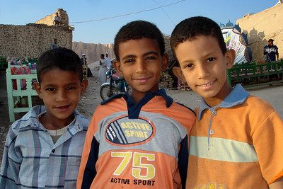 Some little boys who wanted their picture taken - Gurna, Egypt ... November 23, 2006 ... Photo by Emily Conger