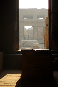 Looking towards the inner courtyard of Karnak - Luxor, Egypt ... November 24, 2006 ... Photo by Rob Page III