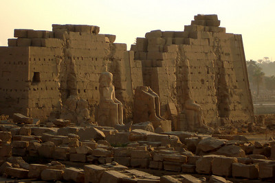 The Eighth Pylon of the north-south axis of Karnak - Luxor, Egypt ... November 24, 2006 ... Photo by Rob Page III
