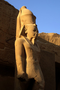 A statue in the Karnak complex - Luxor, Egypt ... November 24, 2006 ... Photo by Rob Page III
