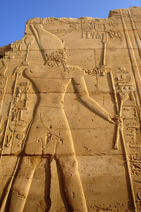 A heiroglyphic on a the outer wall of the central court at Karnak - Luxor, Egypt ... November 24, 2006 ... Photo by Rob Page III
