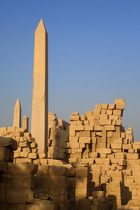 The obelisks for Hatshepsut at Karnak - Luxor, Egypt ... November 24, 2006 ... Photo by Rob Page III
