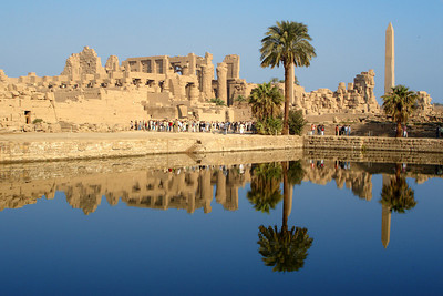 Looking across the sacred lake at Karnak - Luxor, Egypt ... November 24, 2006 ... Photo by Rob Page III