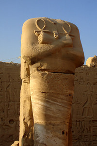 A statue of Hapshetsut, but the head is missing - Luxor, Egypt ... November 24, 2006 ... Photo by Rob Page III