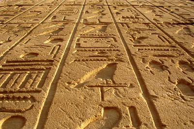 Heiroglypics at Karnak - Luxor, Egypt ... November 24, 2006 ... Photo by Rob Page III