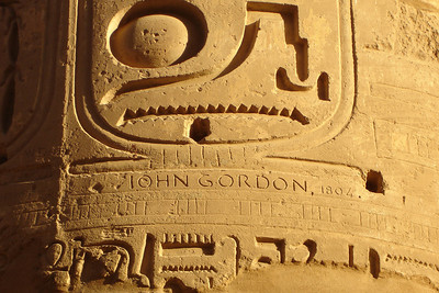 Gordon was here - Luxor, Egypt ... November 24, 2006 ... Photo by Rob Page III