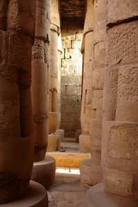 The columns of the Great Hypostyle Hall - Luxor, Egypt ... November 24, 2006 ... Photo by Rob Page III
