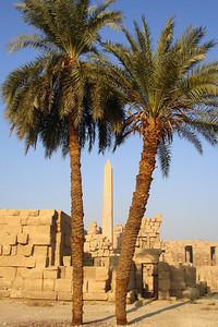 One of the obelisks of Hatshepsut at Karnak - Luxor, Egypt ... November 24, 2006 ... Photo by Rob Page III