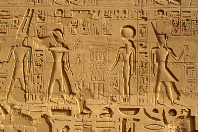 The hieroglyphics of Karnak - Luxor, Egypt ... November 24, 2006 ... Photo by Rob Page III