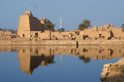 Looking across the sacred lake - Luxor, Egypt ... November 24, 2006 ... Photo by Emily Conger