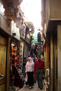 The narrow streets of Khan Al-Khalili - Cairo, Egypt ... November 21, 2006 ... Photo by Emily Conger